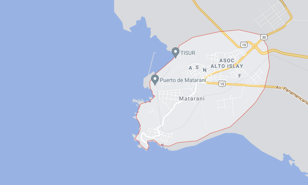 puertos marítimos de Perú, matarani
